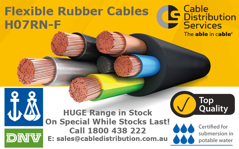 Flexible rubber cables: huge specials and free delivery