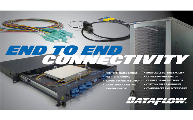Enjoy end to end fibre connectivity from Dataflow
